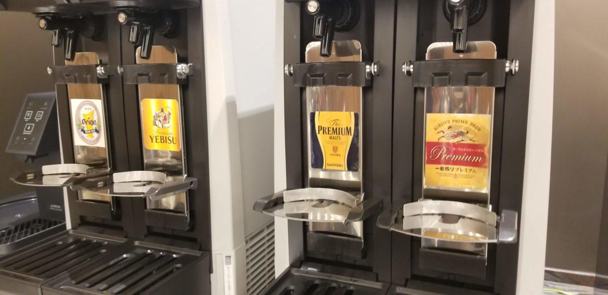 那覇空港anaスイートラウンジ ビールサーバー